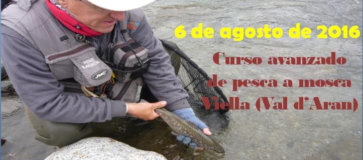 Curso avanzado de pesca a mosca en Viella (Val d'Aran) 6 de Agosto de2016