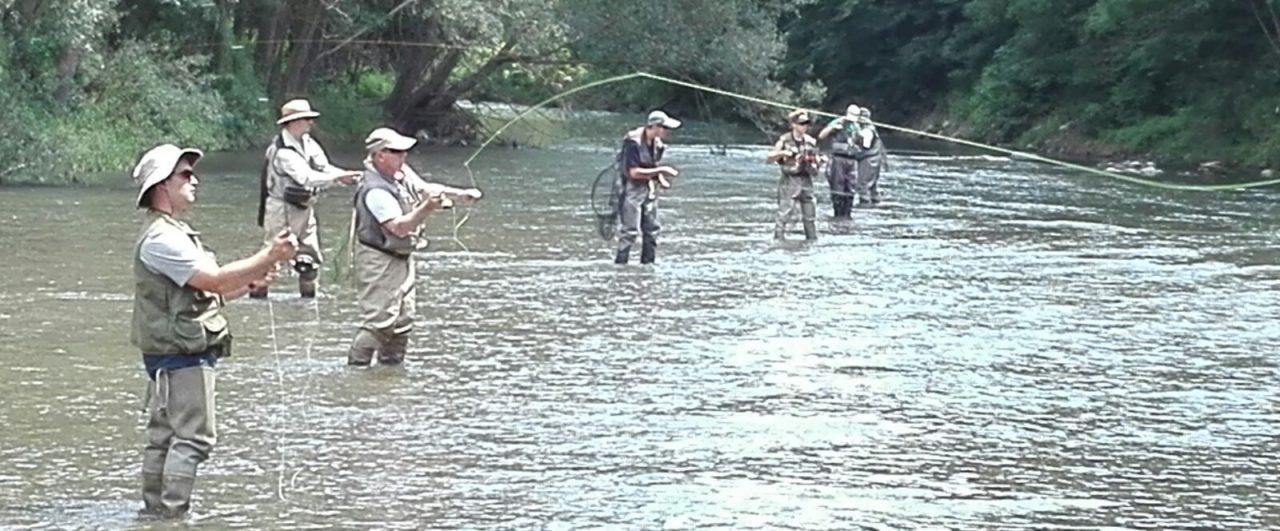 Curso técnicas de lanzado pesca a mosca en Berga (Pedret) 17 de Septiembre de2017